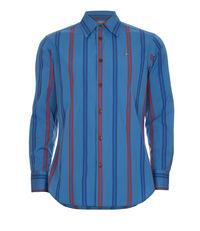 Classic Cutaway Shirt Nightstripes Blue