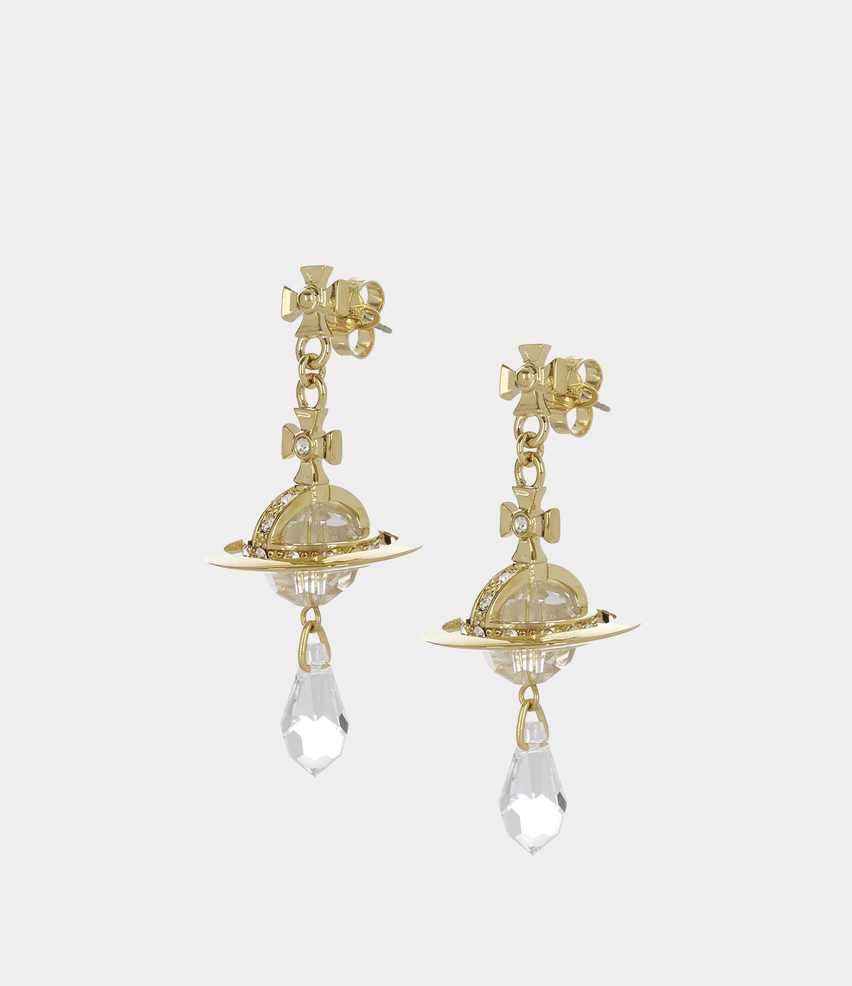 be5e84500 Crystal Orb Earrings Gold Plated   Women's Earrings   Vivienne Westwood