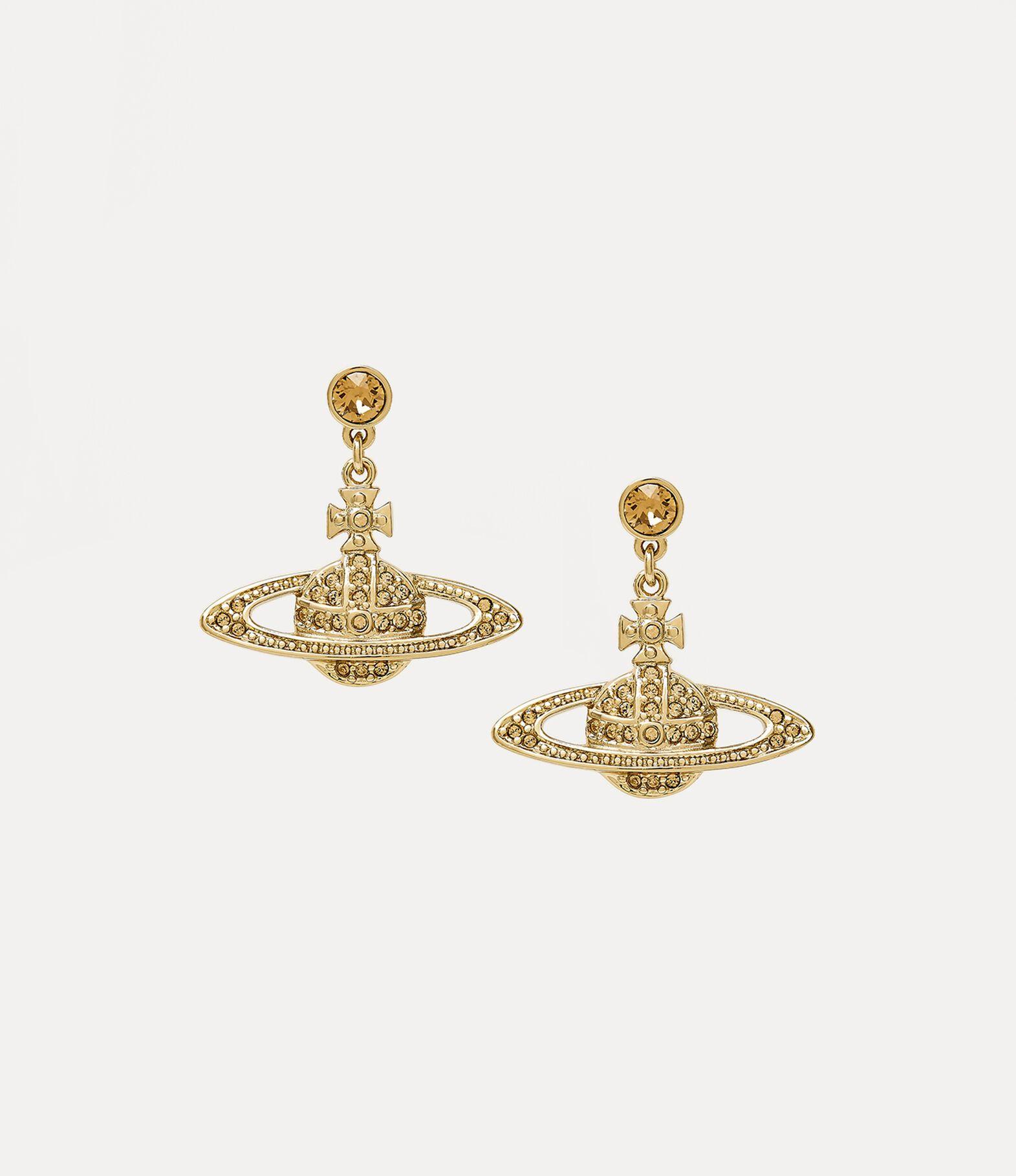 Mini Bas Relief Drop Earrings   Women's Earrings   Vivienne Westwood