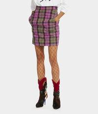 Alcoholic Mini Skirt Pink Tartan
