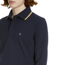 Long Sleeved Polo Shirt Navy