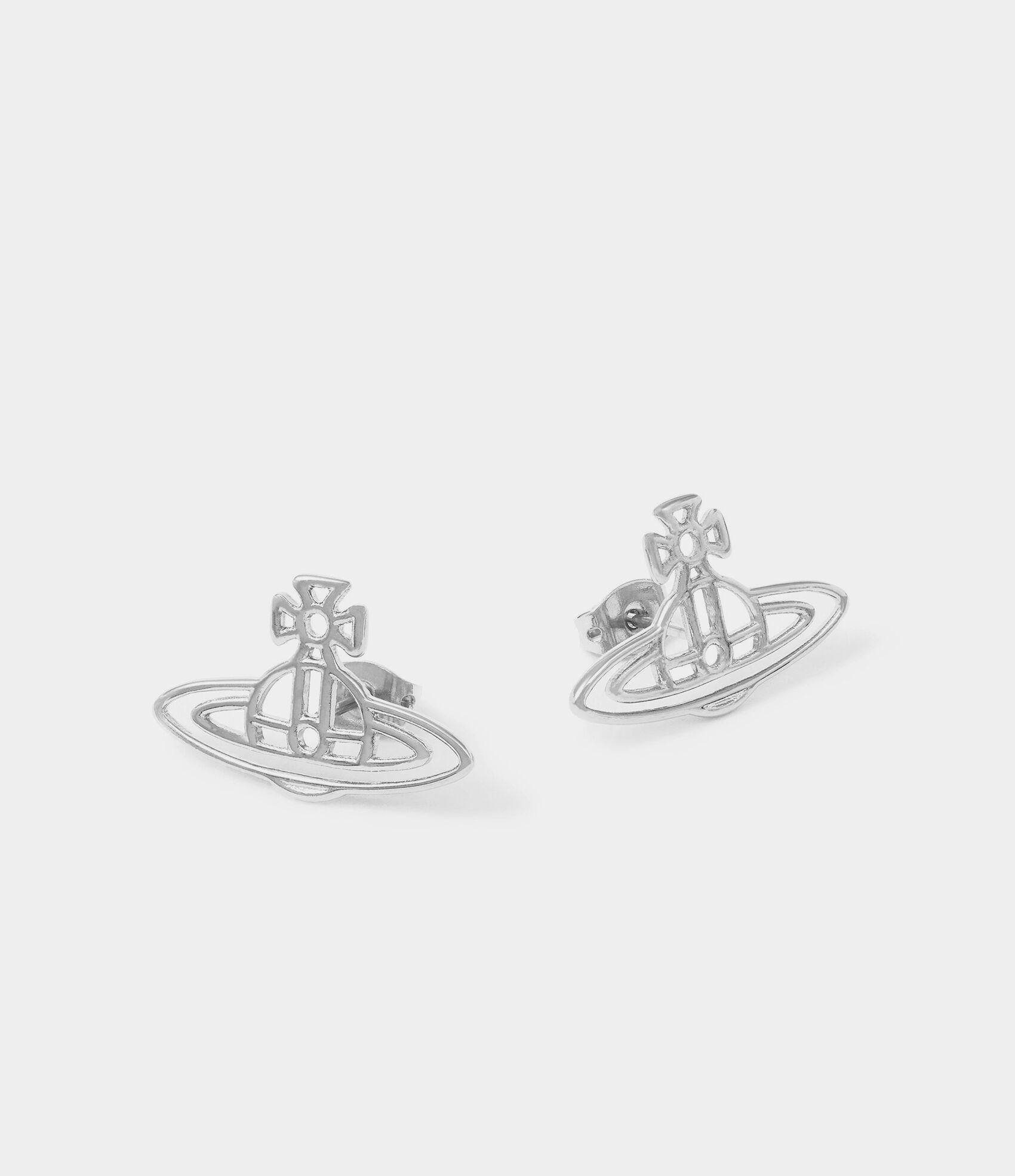 8f44b8b62 Thin Lines Flat Orb Stud Earrings | Women's Earrings | Vivienne ...