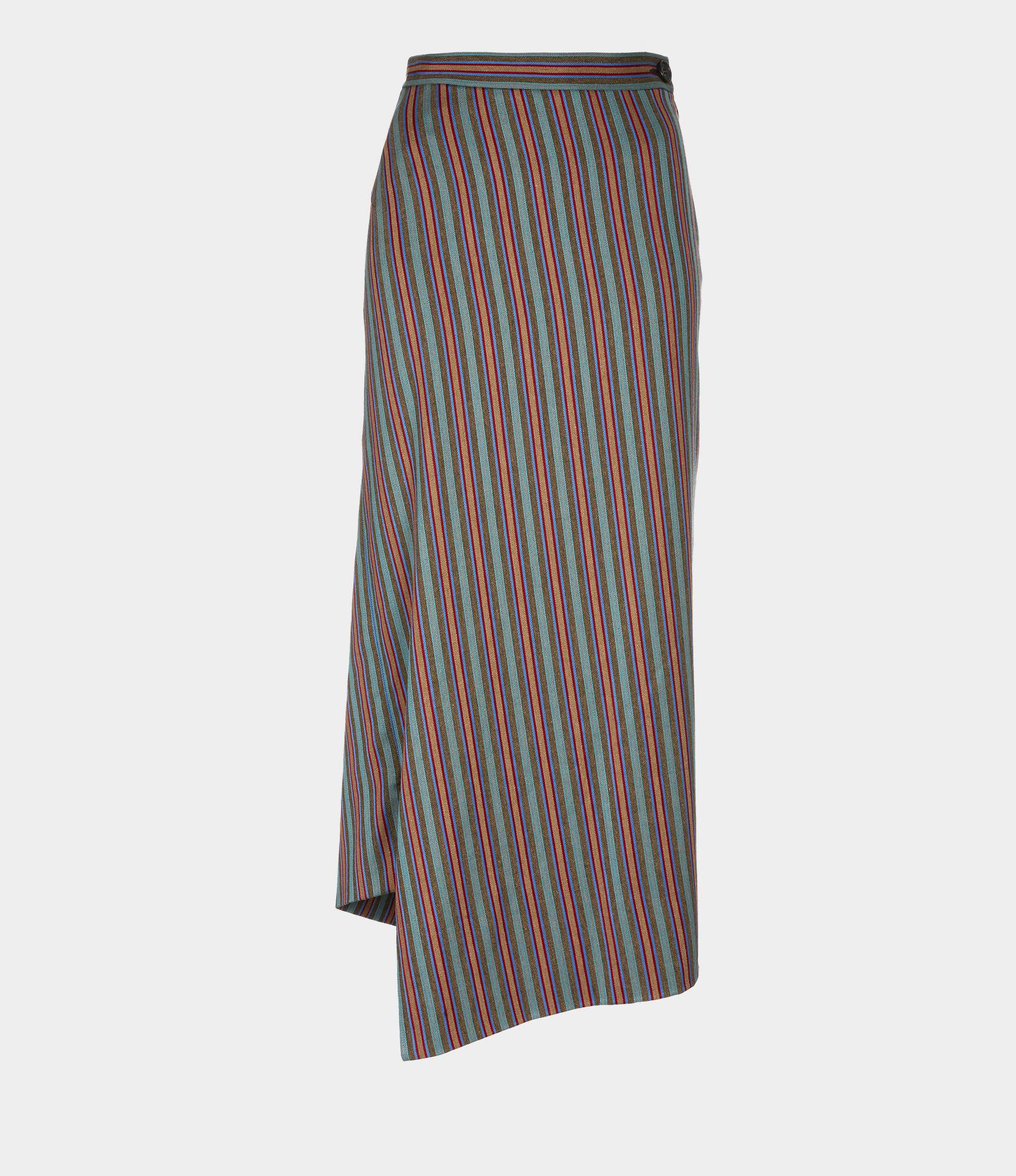 Midi Infinity Asymmetric Midi Skirt in Multi