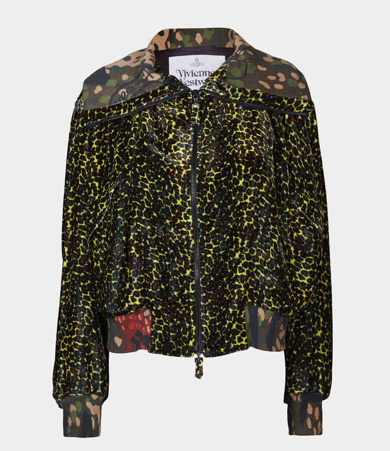 Wilma Bomber Leopard Print from Vivienne Westwood