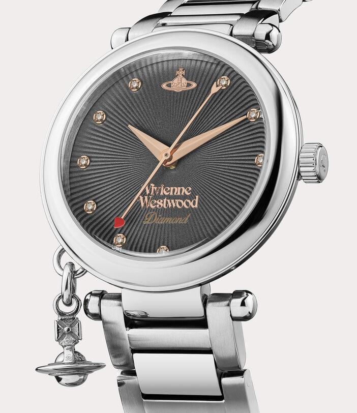 Orb Diamond Watch Silver Tone 2