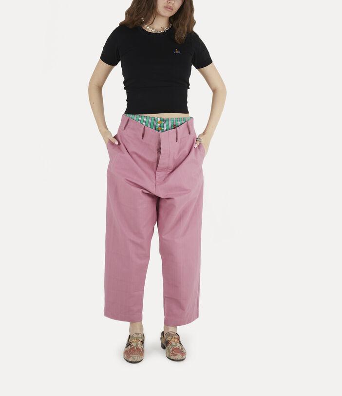 Alien Trousers Pink Check Herringbone 3