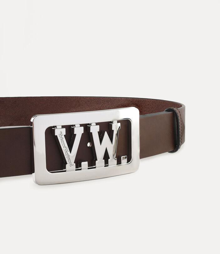 Vw Buckle Belt Brown 3