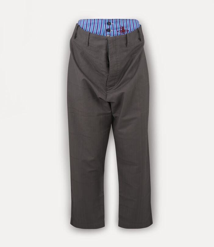 Alien Trousers Grey Check Herringbone 1