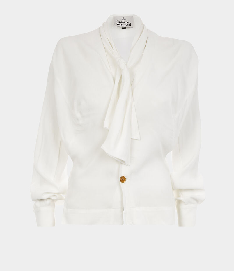 Wilma Bow Blouse Off White