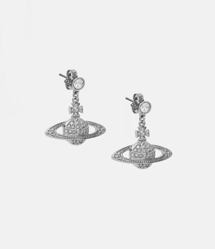 Mini Bas Relief Drop Earrings Silver-Tone 2