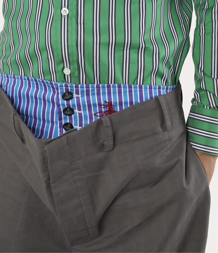 Alien Trousers Grey Check Herringbone 5