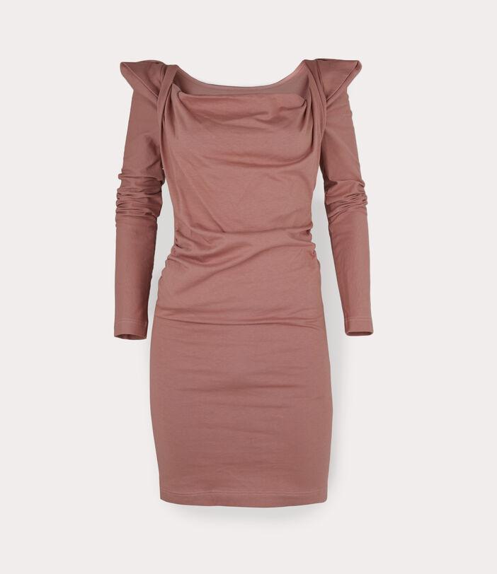 Elizabeth Jersey Dress Dusty Pink 1