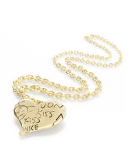 Valentines Heart Pendant Gold Plated