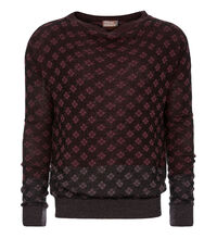 Diamonds Jumper Black/Rust/Purple Lavander