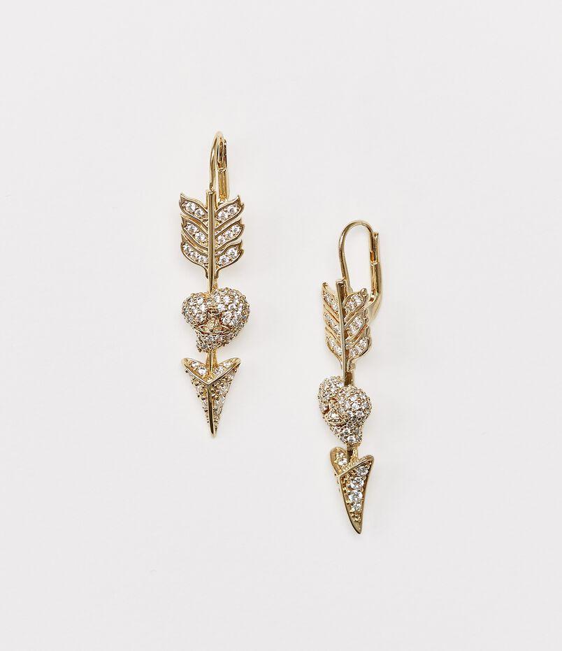 Luminita Drop Earrings Gold Tone