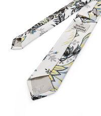 Flower Print Tie White
