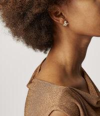 Valentina Stud Earrings Golden Tone