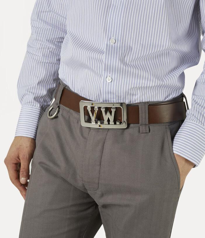 Vw Buckle Belt Brown 2