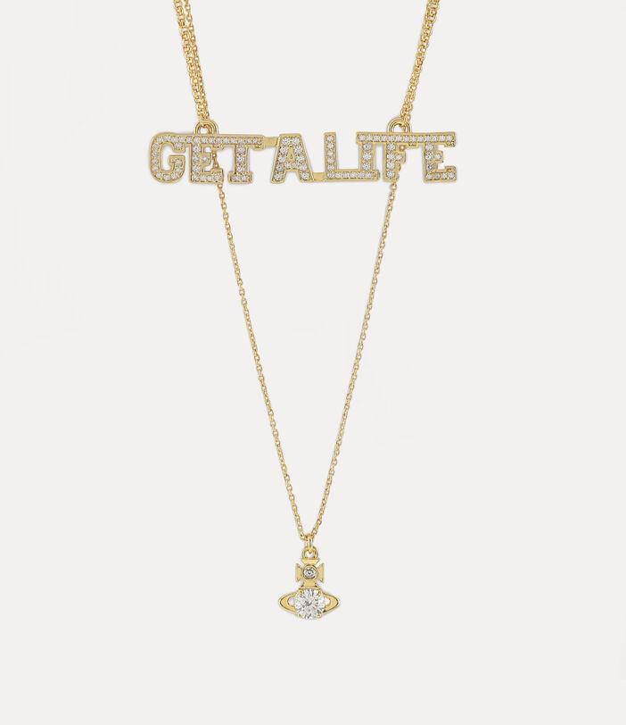 Get A Life Pendant Gold-Tone 1