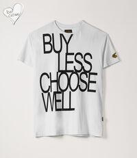 Boxy T-Shirt Buy Less Choose Well White