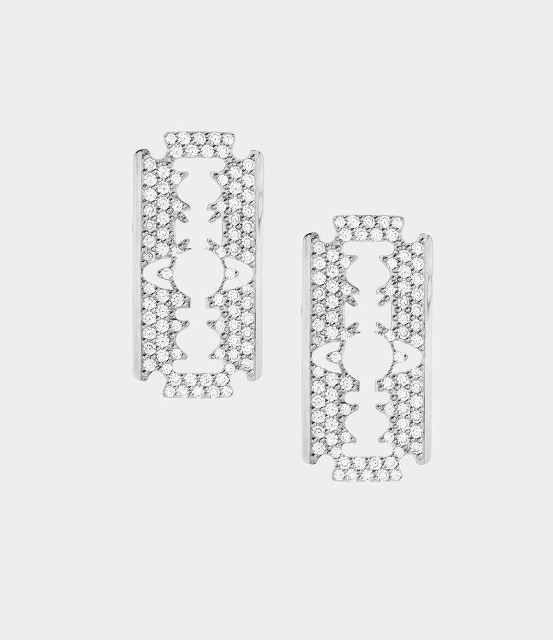 Gigliola Large Earrings Silver Tone