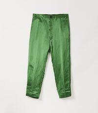 Satin James Bond Trousers Green