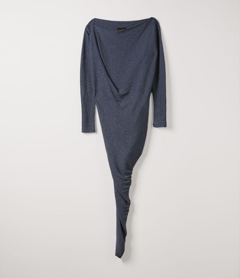 Long Sleeve Vian Dress Blue