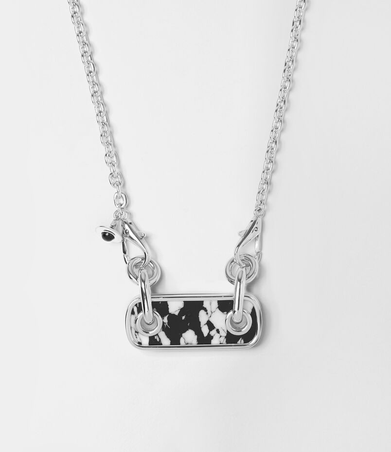 Duke Necklace Black/White
