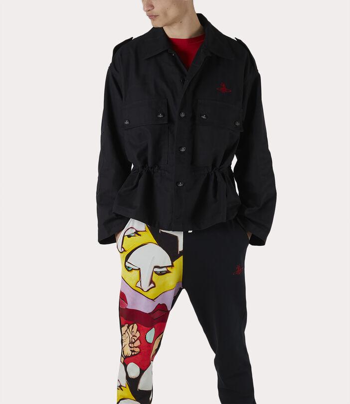 Ben Overshirt Black Check Herringbone 7