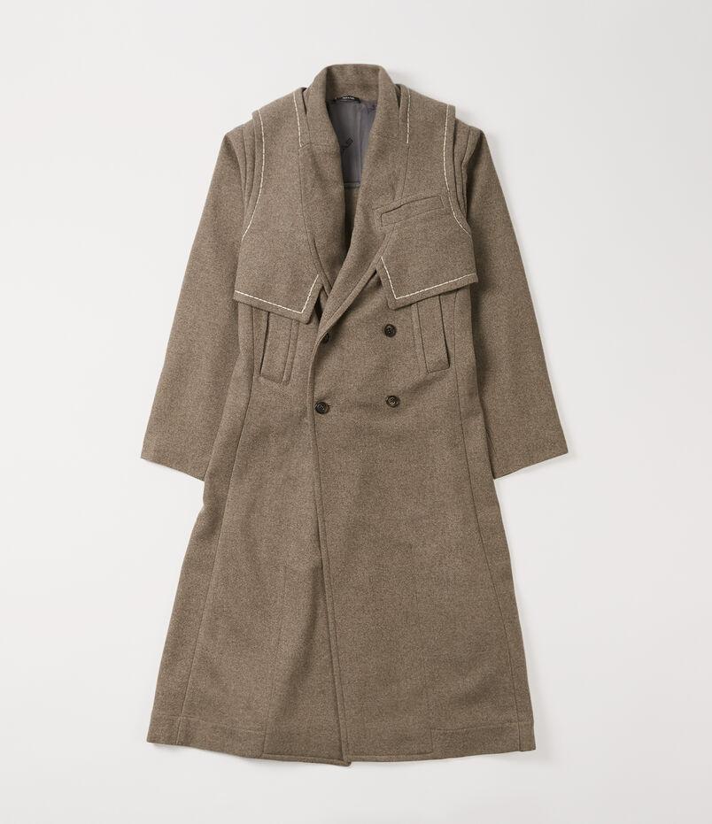 Yak D.B. Coat Natural Brown