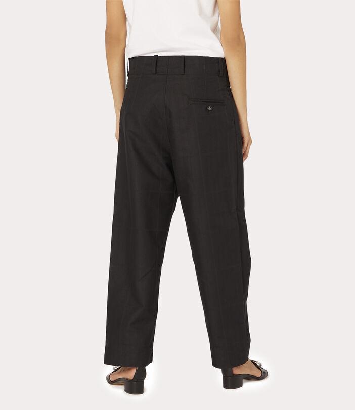 Alien Trousers Black Check Herringbone 4