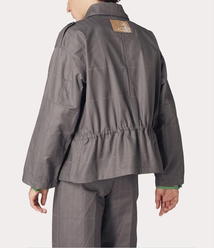 Ben Overshirt Grey Check Herringbone 4