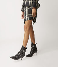Mini Infinity Skirt Black/White Tartan