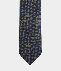 Orb Jacquard Tie Navy Blue