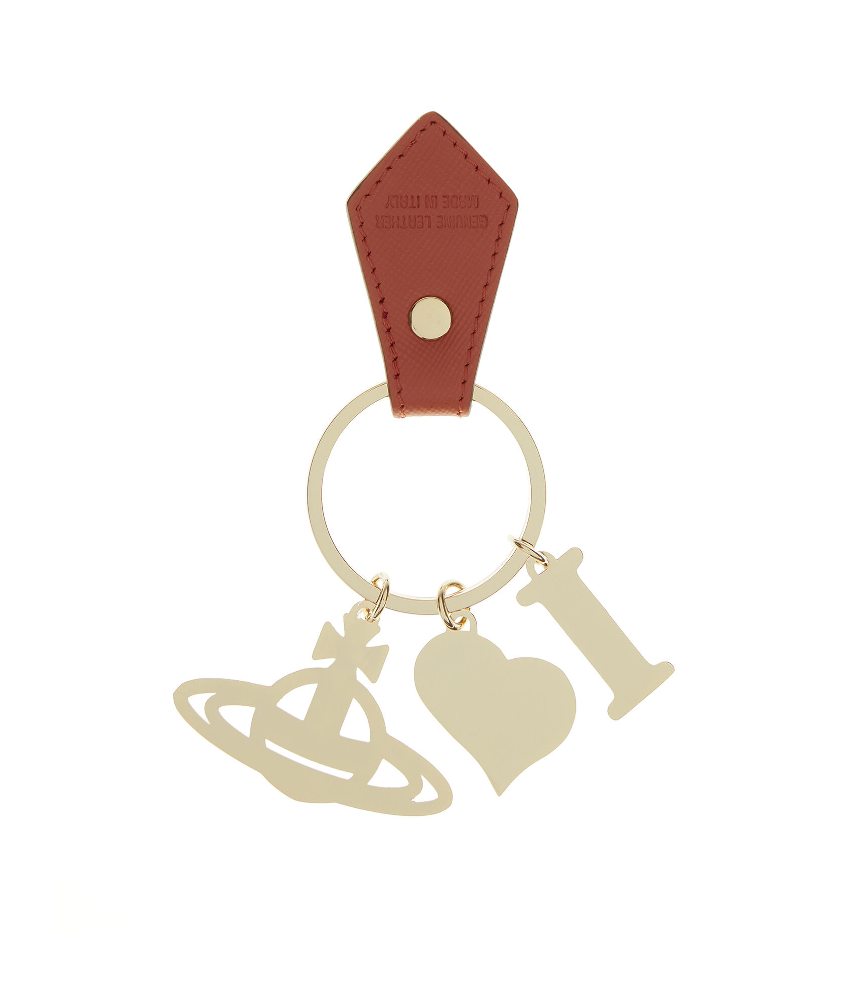 ... I Love Orb Key Ring 321566 Orange