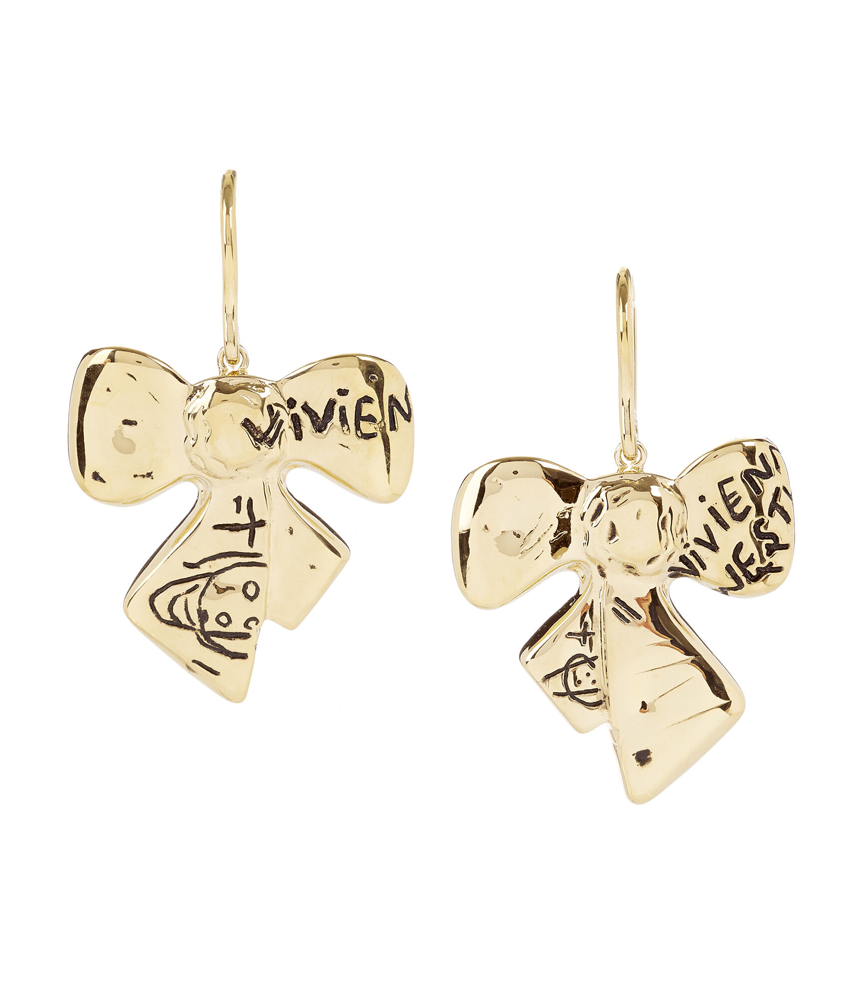 Vivienne Westwood Earrings for Women, Gold, 2017, One Size