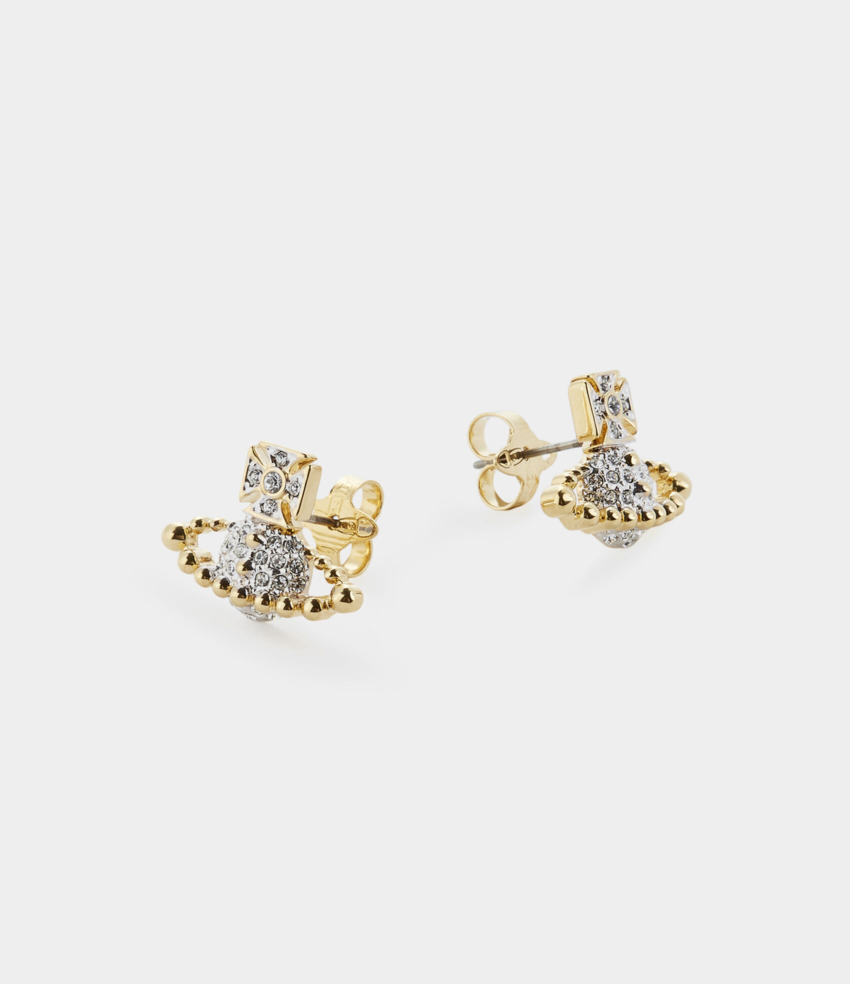 be656dd7e4a17a Vivienne Westwood Earrings   Women's Jewellery   Vivienne Westwood - Lena  Bas Relief Earrings Gold/Silver Tone