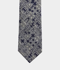 Abstract Orb Tie Silver