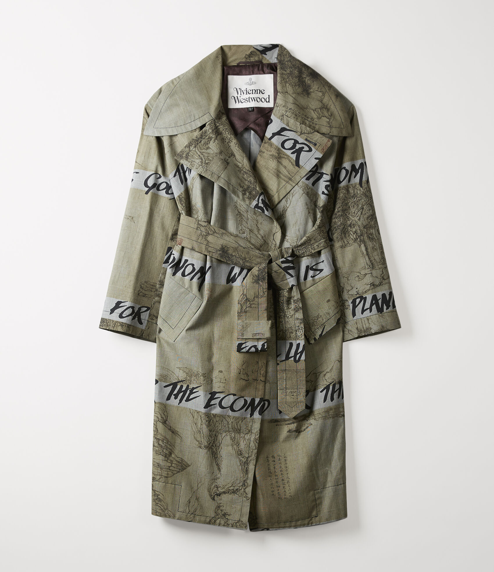 fd2ce8f5c Wilma Wrap Coat Chinese Drawing Print