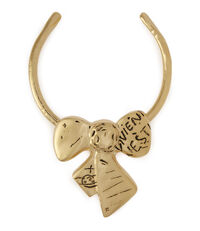 Arabella Bow Necklace Antique Gold Tone