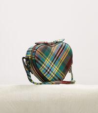 Shuka Tartan Heart Crossbody Bag Green