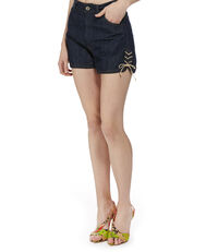 Heart Shorts Blue Denim