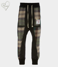 Harris Tweed Patchwork Pants Black