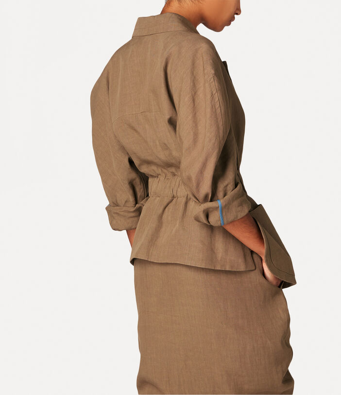 Spontanea Double Breasted Jacket Brown 4