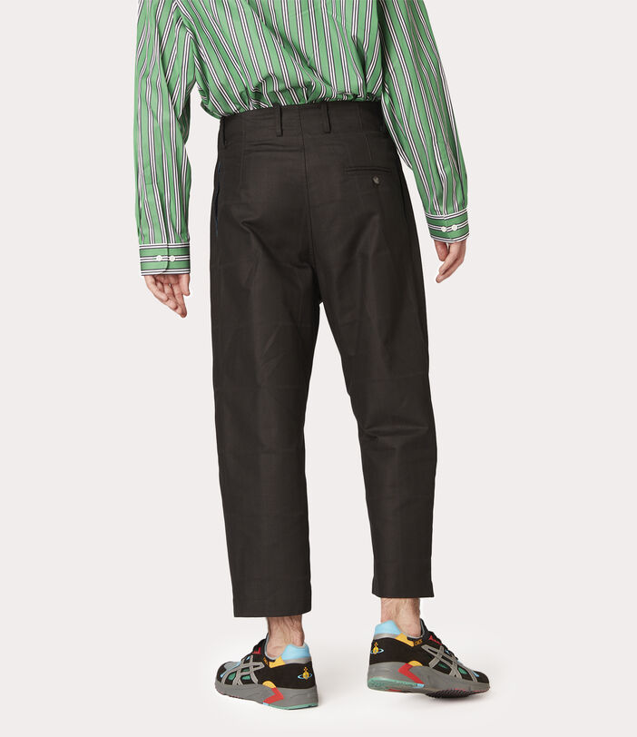 Alien Trousers Black Check Herringbone 8