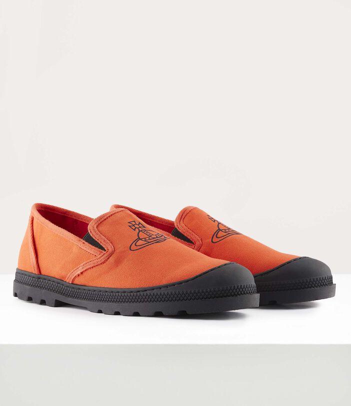 Men'S Simian Slip Ons Orange 2