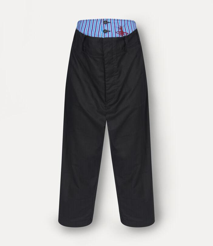 Alien Trousers Black Check Herringbone 1