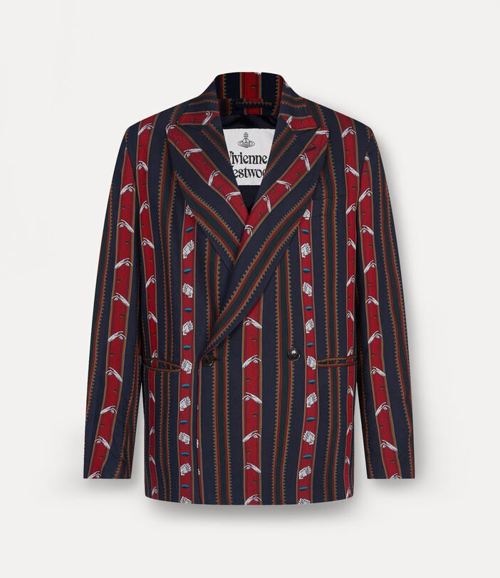 Relaxed Double Breasted Jacket Chrissie Stripes 1
