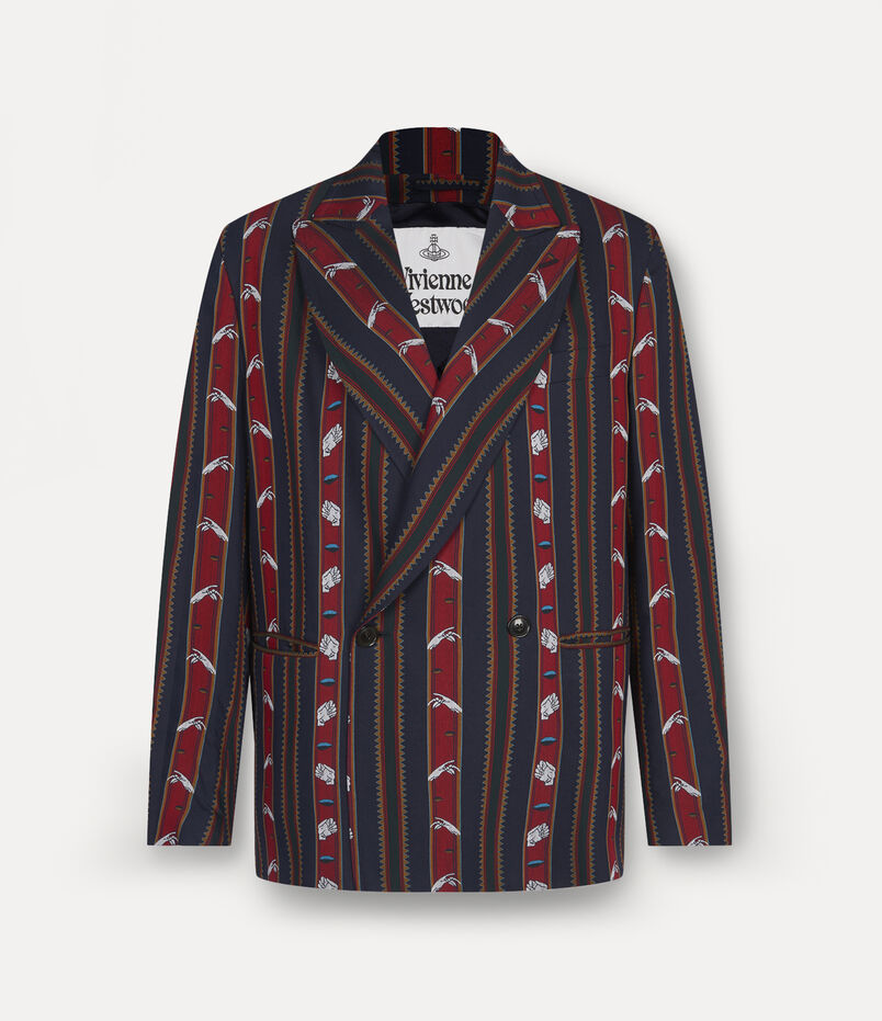 Relaxed Double Breasted Jacket Chrissie Stripes