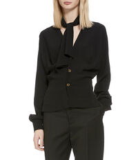 Wilma Bow Shirt Black